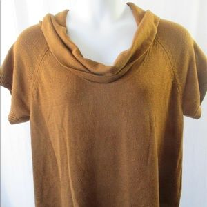 Coldwater Creek Sweater Sz 2X Cowl Neck Brown